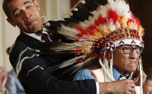 Joe Medicine Crow Being Given the Medal of Freedom