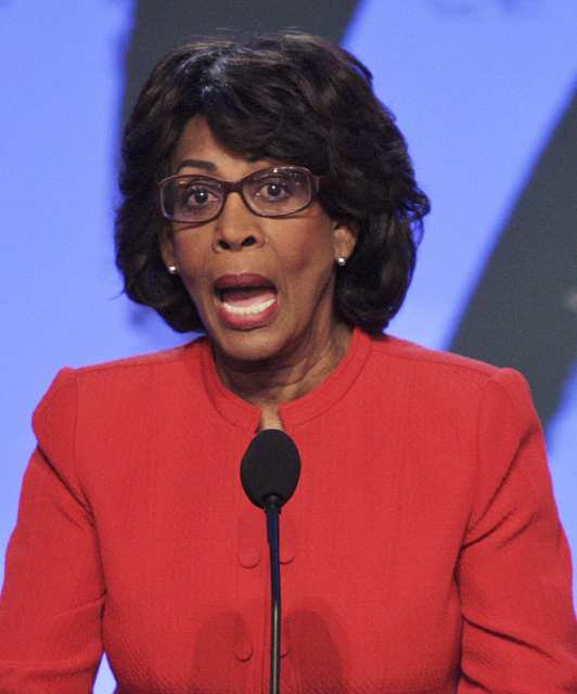 """Maxine Waters """"Red Becomes Her!""""   Her Socialist Marxist dreams."""