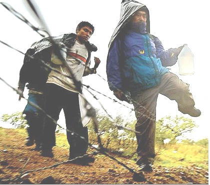 Image result for illegals running across border