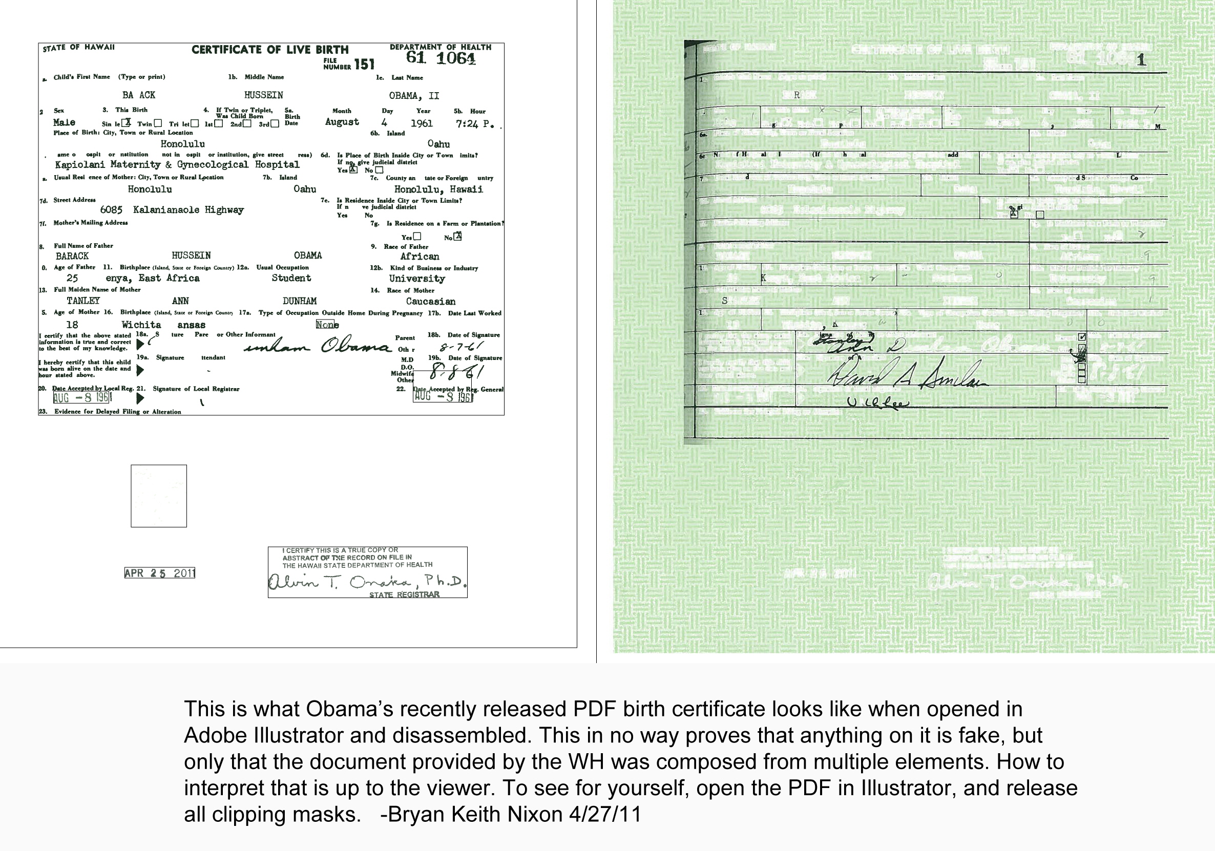 Obama produced another forged birth certificate we the people of barack aiddatafo Image collections