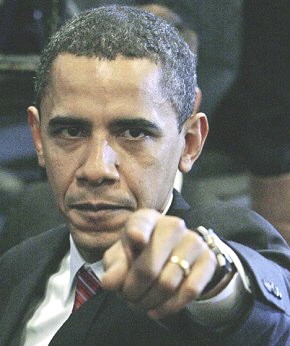 Barack obama pointing finger at you