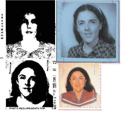 Ann Dunham Soetoro Passport photos  4 of them C