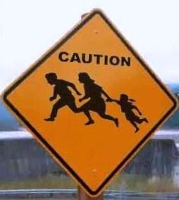 Illegal alien crossing