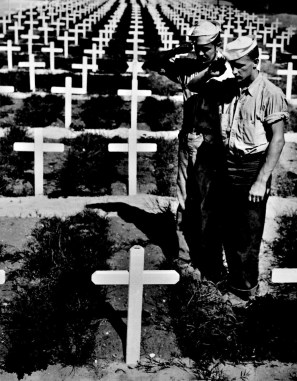 Cemetery in the Pacific WWII - Copy