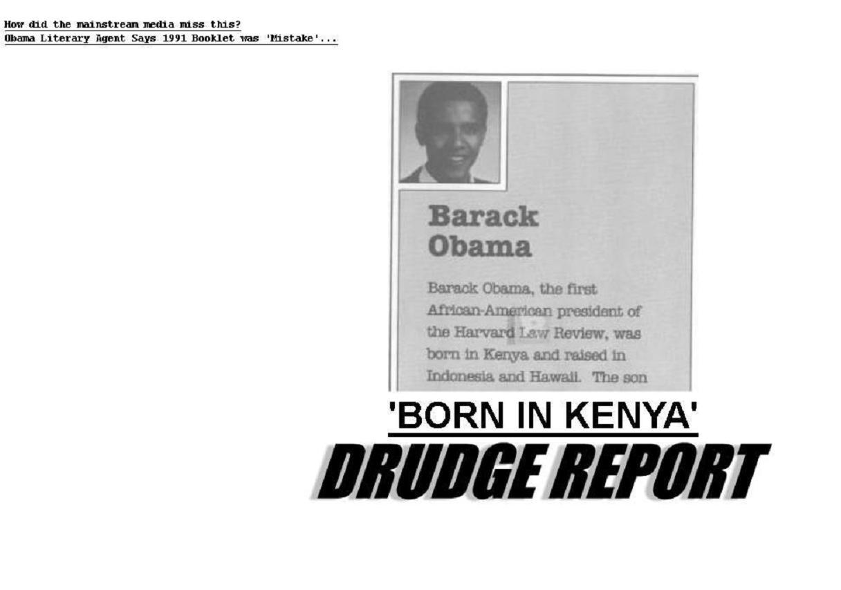Obama born in kenya drudge headlines breaking story drudge aiddatafo Image collections