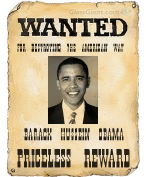Barack Hussein Obama Wanted Poster
