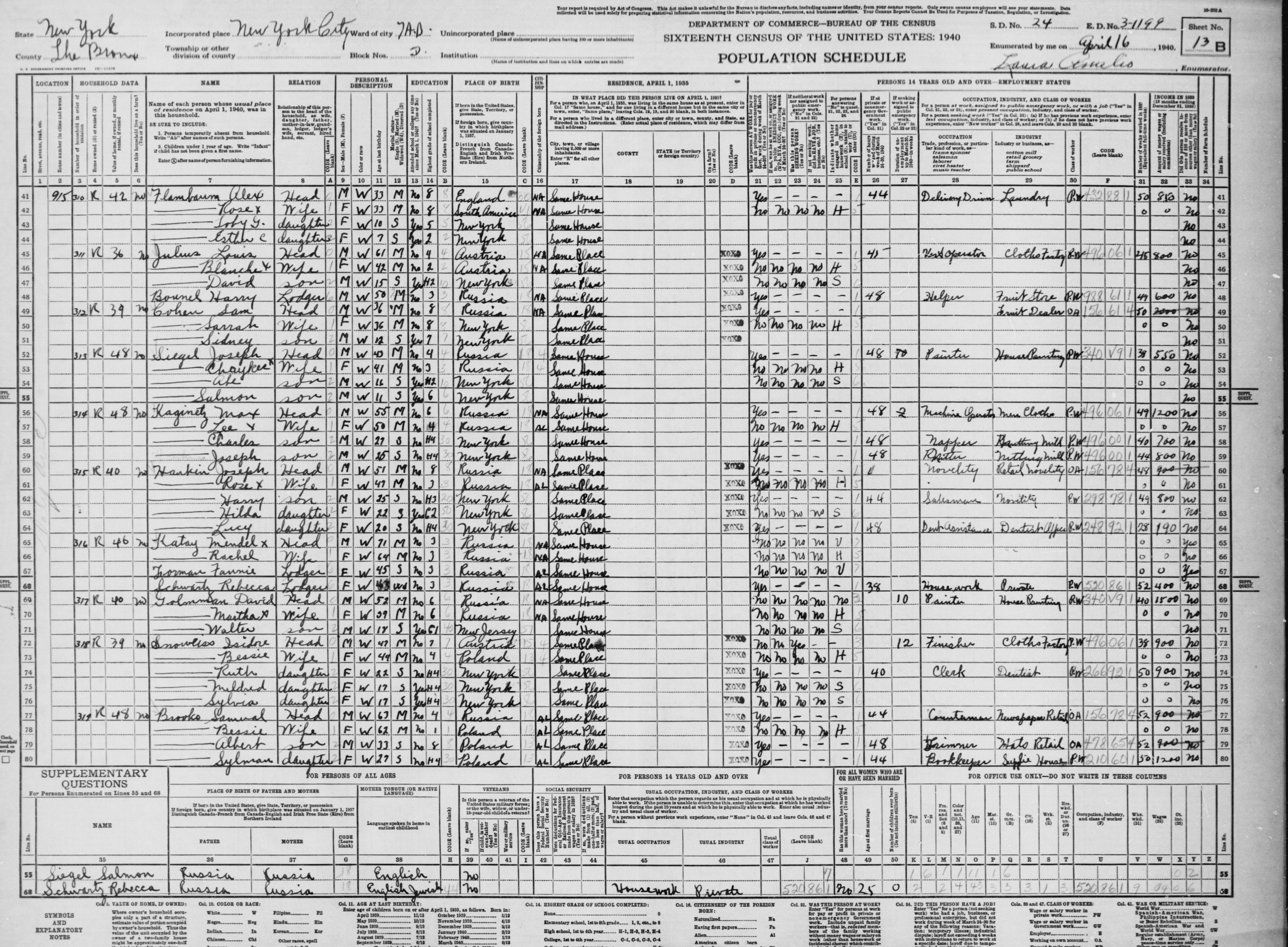 Obamas alias of harry bounel found in 1940 census we the harry bounel 1940 census the bronx new york city aiddatafo Gallery