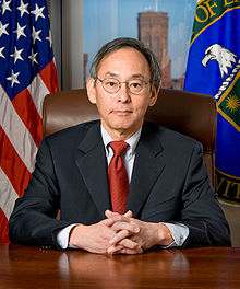 Steven Chu official DOE portrait